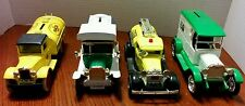 Set of 4  Delivery Trucks Banks Die Cast- Penzzoil, Deist, Mountain Dew, Iowa