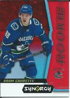 2018-19 Upper Deck Synergy ADAM GAUDETTE Rookie Red Parallel #51