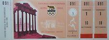 Mint ticket 10.9.1960 Olympia Roma maratón oro abebe bikila Etiopía