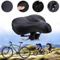 Wide Big Bum Sponge Bike Bicycle Saddle Seat Cycling MTB Cushion Comfort Pad US