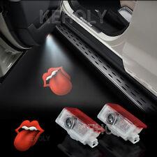 2x ROLLING STONES LIPS Logo Car Door LED Laser Projector Shadow Light For Benz