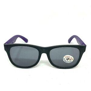 Vintage Rubber Sunglasses Black Purple Frames UV Protection Retro 80's 90's Vtg