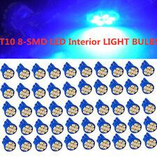 50PCS 360° T10 W5W 5SMD LED Wedge Light Blue Plate License 168 194 2825 Bulbs