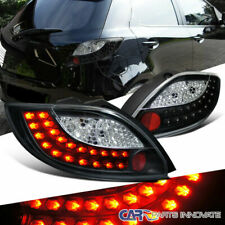 For 11-12 Mazda 2 Demio Replacement Black LED Parking Tail Lights Brake Lamps