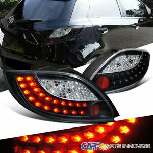 For 11-12 Mazda 2 Demio Black LED Parking Tail Lights Rear Brake Lamp Left+Right