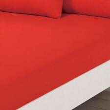 Draps-housses modernes rouge pour le lit, pour chambre