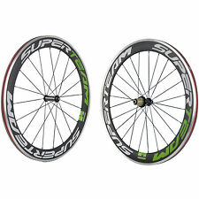 SUPERTEAM 60mm Clincher Carbon Wheelset Alloy Braking Surface Road Bike Wheels