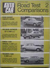 AUTOCAR road test featuring Triumph, Ford Escort, Hillman Avenger, Simca