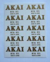 10 x AKAI Metal Reel custom decal stickers Reel to Reel Tape- GOLD - Very RARE