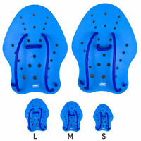 1 Pair Professional Swim Swimming Training Hand Paddles Gloves Blue S