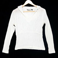 Marmot Women's White Beth Rodden Knit Cover Up Hoodie Top - Size Small