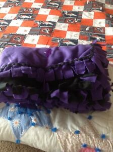 Blanket in Purple & Black (hand made)