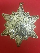 1999 Gorham Sterling Silver Snowflake Ornament with Box