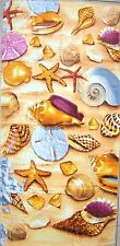 "SEA SHELLS ON THE SAND BEACH TOWEL 28"" X 58"" FIBER REFLECTIVE"
