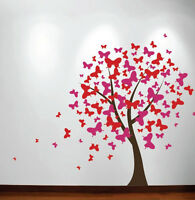 Large Wall Tree Baby Nursery Decal Butterfly Cherry Blossom Sticker Girl Flower