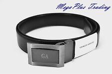 Authentic Giorgio Armani Calf Leather Belt Black (GA3695) 26-44 inch