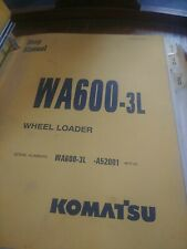 Komatsu Wa600-3 Wa600-3L Wheel Loader Tractor Shop Service Repair Manual