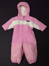 Lands'End size 12-18 month baby girls one piece PINK Snow suit snowsuit