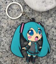 Hatsune Miku Vocaloid Rubber Keychain 2 Inches US Seller