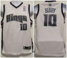 NWOT! Sacramento Kings Reebok NBA Boys Large L 14-16 #10 Bibby Stitched White