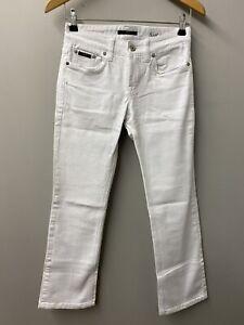 "Hugo Boss White Bootcut Jeans Waist 26"", Leg 28"""