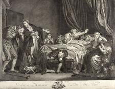 Rene Gaillard-Le Fils puni-después de Greuze grabado 1763