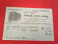 Charles J Barr & Sons Ltd 1936 Chair Cabinet Makers Upholsterers receipt R34478