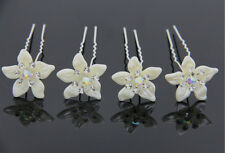 New 6Pcs Hair Pins For Weddings Resin Crystal Flower Hairpins Hair Accessories