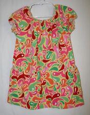Hanna Andersson Girls Size 100 3 4 5 Short Sleeve Bright Sundress Dress