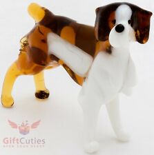 Art Blown Glass Figurine of the Brittany dog