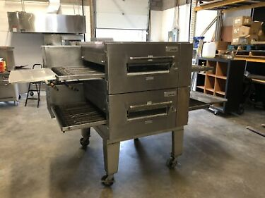 Lincoln Impinger 1600 80 Double Decker 32 Conveyor Pizza Oven Natural Gas