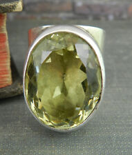 Echo of the Dreamer Sterling Silver Oval Citrine Statement Ring