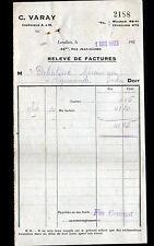 """LEVALLOIS-PERRET (92) ROULEMENTS à BILLES """"C. VARAY Constructeur"""" en 1922"""