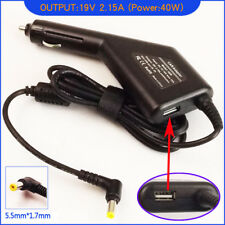 Laptop DC Adapter Car Charger & USB for Acer Aspire One AO533-23096