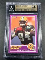 STERLING SHARPE 1989 SCORE SUPPLEMENTAL #333S ROOKIE RC BGS 9.5 GEM PACKERS NFL