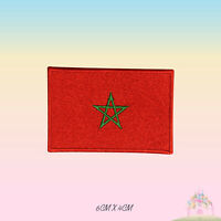 Morocco National Flag Embroidered Iron On Patch Sew On Badge