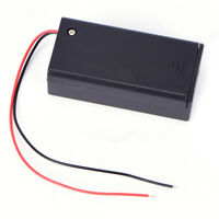 9V Volt PP3 Battery Holder Box DC Case With Wire Lead ON/OFF Switch Cover **