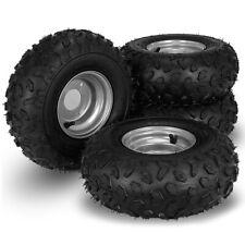 Go Kart Wheels Go Kart Rain Tires Set of 4 Rim & Tyre Set 3 holes Buggy NEW