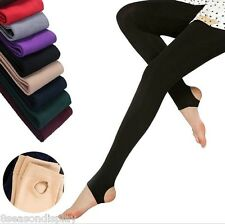 Winter Womens Thick Warm Leggings Stockings Skinny Pants Footless Slim Stretch