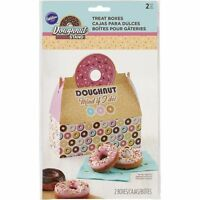 Wilton Set of 2 Paper Doughnut Stand Donut Boxes Bakery Treat Container NEW