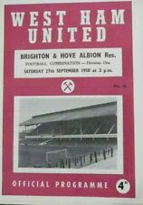 More details for west ham united v brighton and hove albion reserve team fixture 1958/59