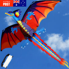 Classical 3D Dragon Kite 140cm x 120cm Single Line With Tail  Outdoor Sports Toy