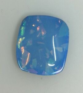 Loose Mosaic Opal 17mm X 19mm  X 5mm Gorgeous Play Of Colour