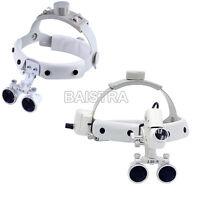 Dental Surgical Medical Headband Binocular Loupes Magnifier Built-in LED 3.5X-R