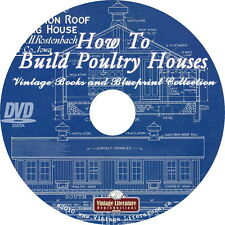 How To Build Chicken Houses & Coops with Plans { Self Sufficiency }  on DVD
