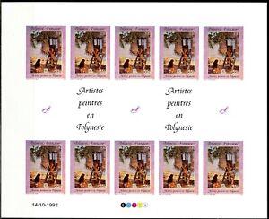 Polynésie Non dentelés - Imperf 1992 Yvert 422-425 Artistes peintres Polynésie
