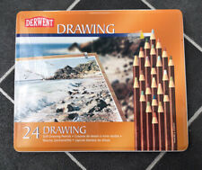 Derwent Set Of 24 Soft Drawing Pencils In Tin