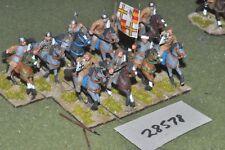 25mm medieval / crusader - sergeants 10 figures - cav (28578)