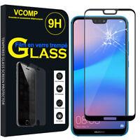 """Film Verre Trempe Protecteur Protection NOIR pour Huawei P20 Lite/ Nova 3e 5.84"""""""