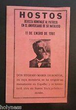 VINTAGE BOOKLET / REVISTA HOMENAJE A HOSTOS / PUERTO RICO / 1981